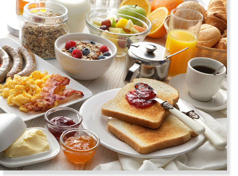 pokoje śniadania